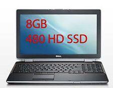 DELL LATITUDE E 6520 CORE I5 2.60 MHZ 8 GB 480 HD SSD  15.6 CON WINDOWS 7 PRO GA