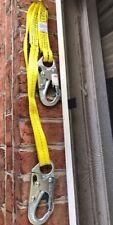 Buckingham Safety Belt Pole Climbing Yellow Strap/Lanyard 4ft. Adj Web