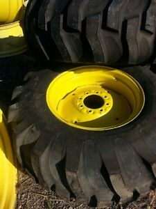 *2) New 17.5Lx24 R4 Kubota Farm Tractor Tires w/Wheels