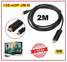 2M TopQuality Mini Display Port DP TO HDMI Male LCD HD TV Laptop AVCABLE Adaptor
