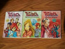 Lot of 3 W.i.t.c.h. books 1 4 9 Four Dragons Power of Five Fire Friendship Witch