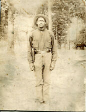 Orig. Photo of Armed Black/African-Am Soldier/Cavalryman(?) ~ Late Indian or Saw