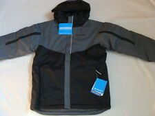 NWT Boys COLUMBIA Winter Jacket Size 4 5 XXS Gray Stun Run Waterproof Black Coat