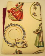 Royal Doulton Lady Figurine Linen Table Cloth 60� wide, 90� long