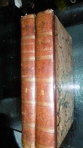 CHARLES LONDE-NOUVEAUX ELEMENS D'HYGIENE-1827-EDITION ORIGINALE-RELIE-2 VOLUMES-