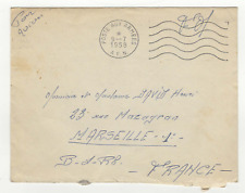 FM Algérie Poste aux armées A.F.N. cachet 1958 sur lettre /L803