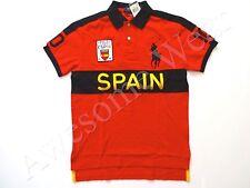 New Ralph Lauren Polo Custom Fit Big Pony Red 100% Cotton Spain Shirt sz XXL