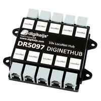DIGIKEIJS DR5097 DigiNetHub - 10 Way LocoNet Splitter Hub ~ Works With Digitrax!