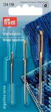 Prym Wollnadel Smyrnanadel silber/gold  3er Set ohne Spitze 124119