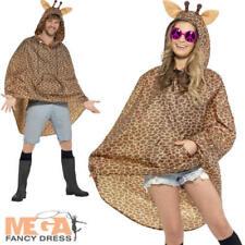 GIRAFFE Poncho Impermeabile Festival Costume Adulti Uomo Donna Costume Animale