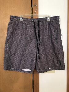 Calvin Klein mens swim trunks shorts drawstring pockets XL