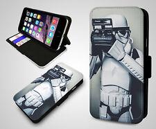 Star Wars Casco Stormtropper Retro Cámara Poser Funda de Teléfono Abatible de Cuero