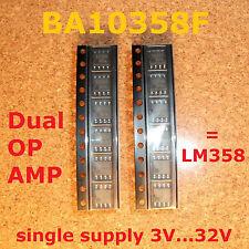 12 pcs. BA10358F Dual OP AMP 3V single supply , = LM358