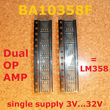 12 PC. ba10358f DUAL OP amp 3v single supply, = lm358