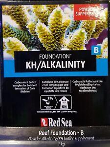 Red Sea Reef Foundation B 1kg KH Alkalinity Buffer Powder Supplement Marine Tank