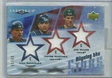 2007 Spectrum Baseball Aligning The Stars Mauer-Martinez-Rodriguez Triple Jersey