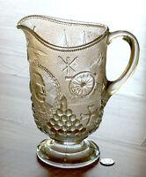 large EAPG water pitcher SPANISH AMERICAN Beatty Brady glass ADMIRAL DEWEY 1898
