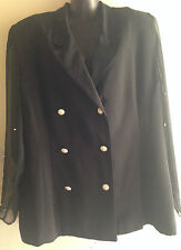 Vintage Retro Ladies Dolina Exclusive Size 16 Black Top with Pearls