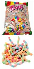 Trolli Brite Crawlers 2kg Bag Kids Sour Lollies Sweets Candy Party Favor Bulk