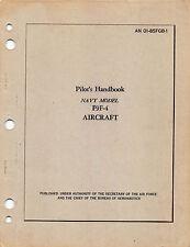 F9F-4 Panther Pilot's Handbook Flight Manual Flight Operating Instructions  (CD)