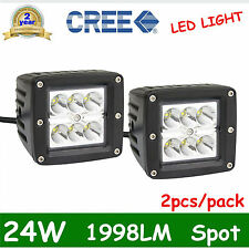 2X3inch 24W CREE LED Spot/Flood 4WD Work Light Bar Offroad UTE Boat Lamp 4x4 OFF
