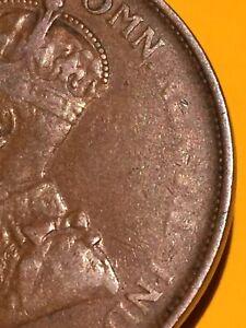 1925 Australia Penny Error Coin Rare In Rare!!