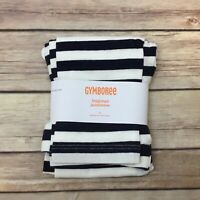 GYMBOREE Leggings Size 5 Girls Gym Navy Ivory Striped Bundled and Bright NEW NWT