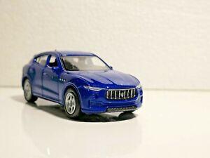 🚓 WELLY NEX CAR Scale Model 1:60 1/60 BOX MASERATI LEVANTE blue