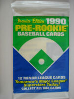 1990  Pre Rookie Baseball Cards - 3 Packs Of Cards - 12 Cards per Pack