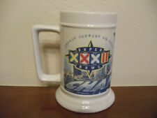 "Vtg Denver Broncos Nfl Super Bowl Xxxii 1/25/98 Champions Stein Mug 5 1/2"" Nwt"