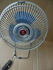 "Sanyo EF-4ZS Vintage 11"" One Speed Three Blue Blade Electric Shop Fan Japan."