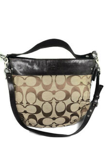 Coach Brown Canvas and Leather Logo Zoe Large Tote
