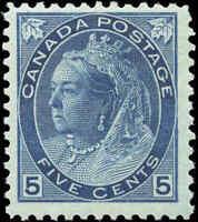 1899 Mint H Canada F+ Scott #79 5c Queen Victoria Numeral Issue Stamp
