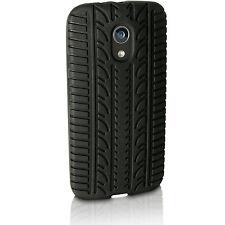 Black Tyre Silicone GEL Skin Case for Motorola Moto G 2 Gen Xt1068 Rubber Cover