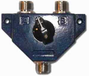 CS-600 / CS-201 CB / HAM  2 Way Antenna Coax Switch 1kW  0-600MHz  CS600 CS201