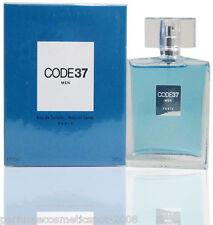 NIB CODE 37 by KAREN LOW COLOGNE FOR MEN 3.4 OZ / 100 ML EAU DE TOILETTE SPRAY