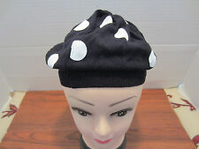 BLACK AND WHITE POLKA DOT BERET FROM HOT TOPIC