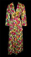 COLLECTABLE VERY RARE 1940'S WWII ERA DEADSTOCK QUILTED FLORAL ROBE SZ 8-10