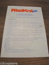 Ricambi risiko più risiko!  ISTRUZIONI manuale di gioco originale completo vendo