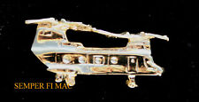 CH-46 SEA KNIGHT XL GOLD HAT LAPEL PIN AUTHENTIC MADE IN US NAVY MARINES GIFT