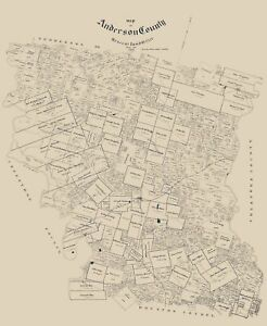 Anderson County Texas - Walker 1903 - 23.00 x 28.08