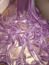 """5 MTR QUALITY PINKY LILAC/GOLD SHIMMER CHIFFON FABRIC...58"""" WIDE £12.49"""
