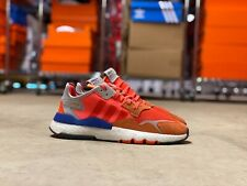 Adidas Nite Jogger Mens Running Shoes Solar Orange/Blue (G26313) NEW Multi Sz