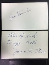 James K. O'Dea 1935 Cubs/NYG/SL Signed Index Card 1920-50s Debut JSA Precerti