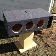 "10"" JL Audio 10W7 Triple Ported/Vent Box 10.5 W7 10W7AE Competition Tuned 32 hz"