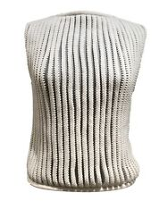 SPORTMAX BY MAX MARA WHITE KNIT VEST, M, $595