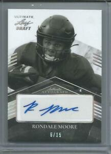 RONDALE MOORE rc Auto 2021 Leaf Ultimate Draft 6/15 Cardinals Combined Shipping