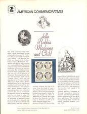 #103 13c della Robbia Madonna #1768 USPS Commemorative Stamp Panel