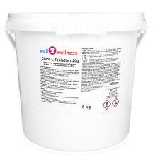 Chlor L Tabletten 20g - kleine, langsam lösliche Chlortabletten 20g - 5,0 kg