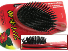 Ikemoto Japan Tsubaki Hair Care Cushion Comb Brush with undetectable tsubaki oil